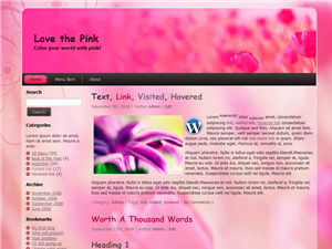 Love the pink Free WordPress Theme