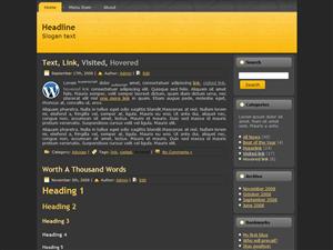 Elegant - Dark 2 Columns Free WordPress Theme