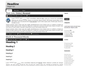 Simple and elegant - Free WordPress Theme