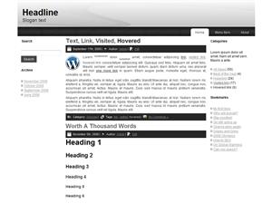 Simple and elegant 3 column Free WordPress Theme
